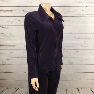 Talbots purple 2 piece warmup jogging suit size M
